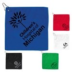Promotional 300GSM Microfiber Custom Golf Towel With Metal Grommet and Clip