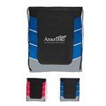 Promotional Color Block Drawstring Backpack