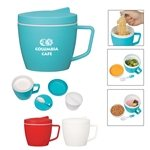 Promotional 14 Oz. Thermal Mug With Spoon And Fork Set