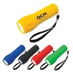 Promotional Rubberized Torch Light With Strap