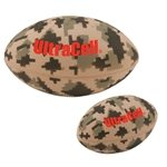 Promotional Large Digital Camouflage Football Stress Reliever - 5