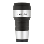 Promotional ThermoCafe™ by Thermos® Travel Tumbler with Grip - 16 Oz. - Stainless Steel