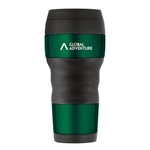 Promotional ThermoCafe™ by Thermos® Travel Tumbler with Grip - 16 Oz. - Green