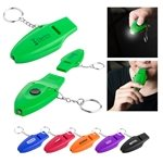 Promotional Oscen Led Whistle Keychain