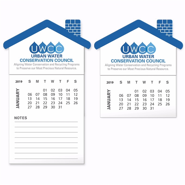 Promotional BIC(R) Stock Shape Magnet with 12 Sheet Calendar