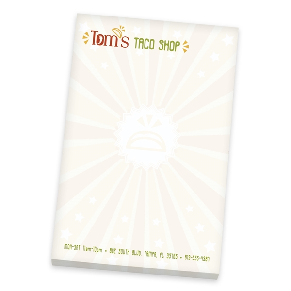 Promotional 4 X 6 Non - Adhesive Scratch Pads 25 Sheet Pad