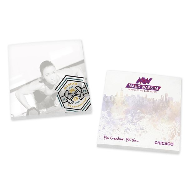 Promotional BIC(R) Ecolutions(R) 3 x 3 Adhesive Notepads 100 sheet pad