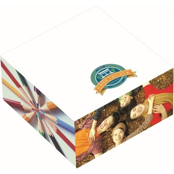 Promotional Bic 3 X 3 X 1.5 Adhesive Sticky Note Cube Pad