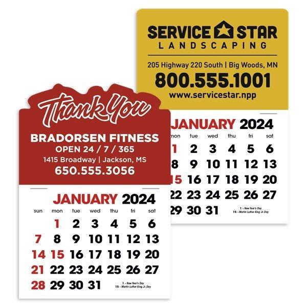Promotional 2- Color Stick Up Calendar, English (13- Month) - Triumph(R) Calendars