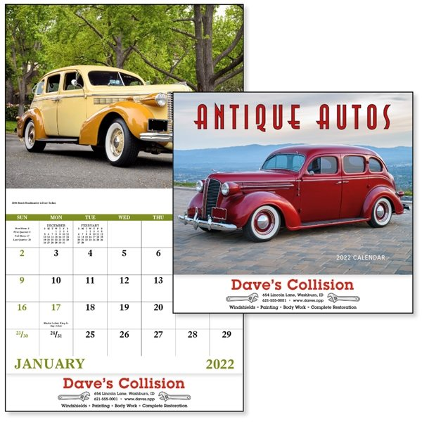 Promotional Antique Autos - Stapled - Good Value Calendars(R)