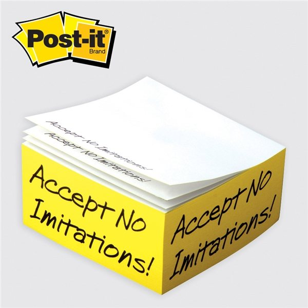 Promotional Post - it(R) Custom Printed Notes Half - Cube C525 4 x 4 x 2