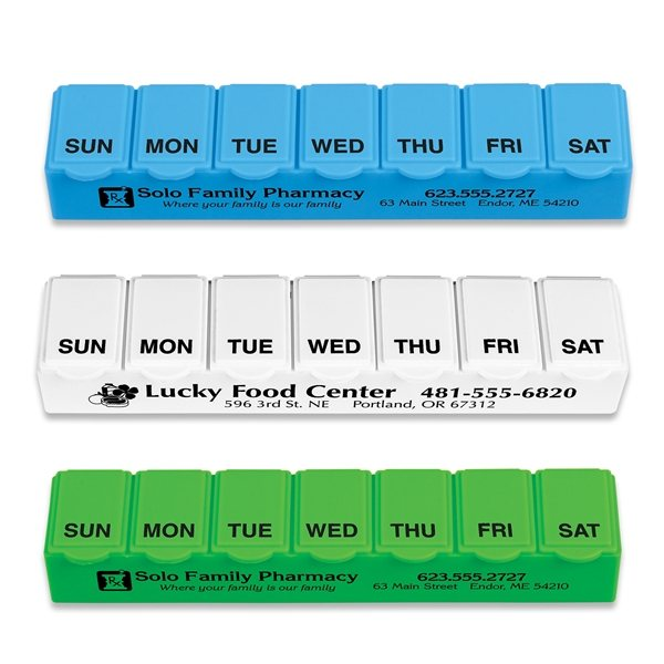 Promotional Traditional 7 Day Pill Box.