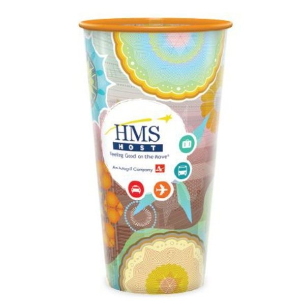 Promotional 32 oz reusable frosted clear cups