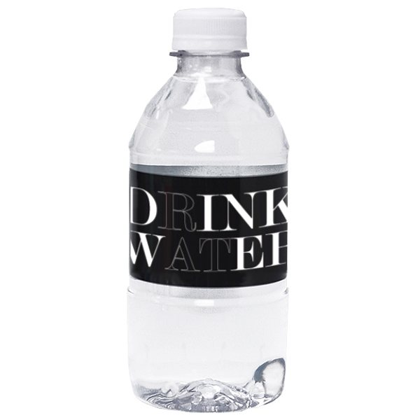 Promotional 12 oz. - Bottled 100 spring water with flat cap.