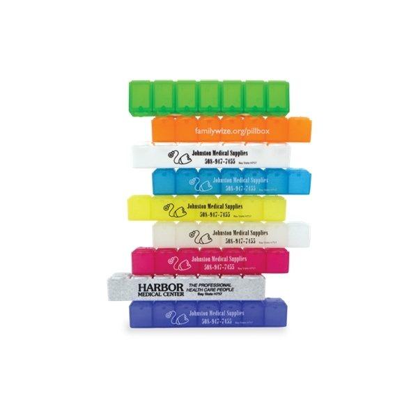 Promotional 6 Polypropylene All - Week Pill Box