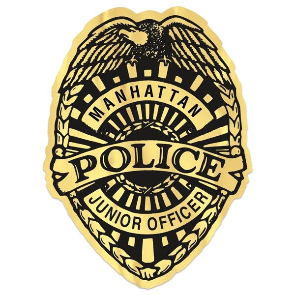 Promotional Junior Police Badge Stickers
