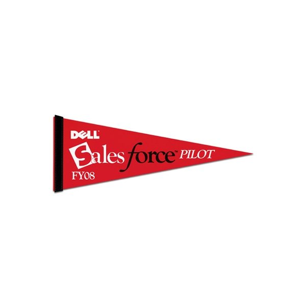 Promotional 1 Sewn Strip Colored Pennant - 9 X 24