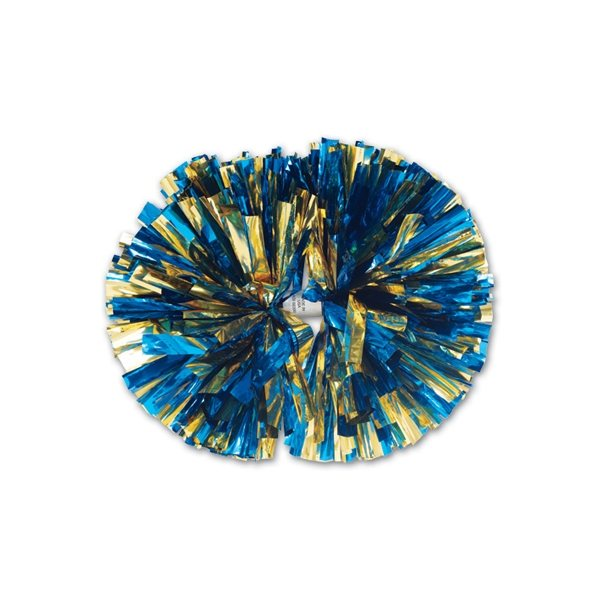 Promotional 2- Color Mix Metallic Show Pom - 6