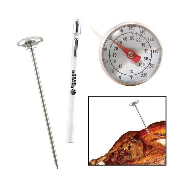 Promotional Analog Meat Thermometer with Pocket Sleeve and Clip
