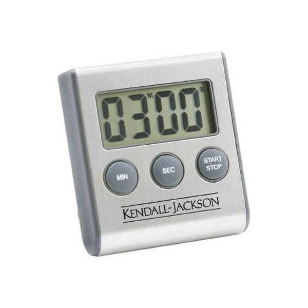 Promotional Brushed Stainless Steel Magnetic Digital Kitchen Timer