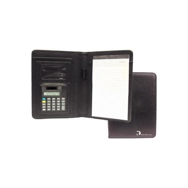 Promotional Junior - Size Nu - Leather Portfolio with Calculator