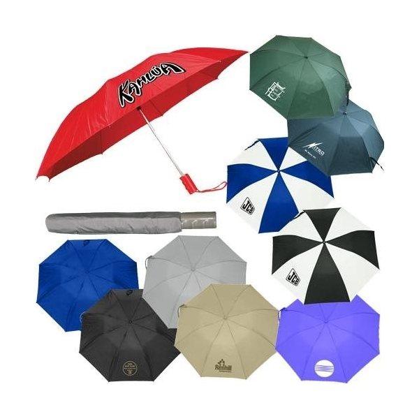 Promotional 43 Automatic Opening Nylon Umbrella with Case