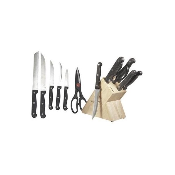Promotional 6- Piece Stainless Steel Knife Set with Wooden Block