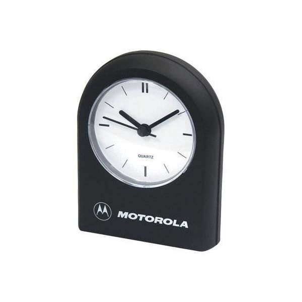 Promotional Rounded - Top Desk Clock with Alarm