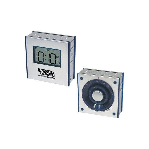 Promotional Dual - Panel FM Clock Radio with Large LCD Screen