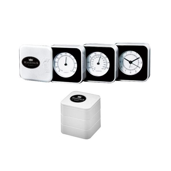Promotional Fold - Out Weather Station with Alarm Clock