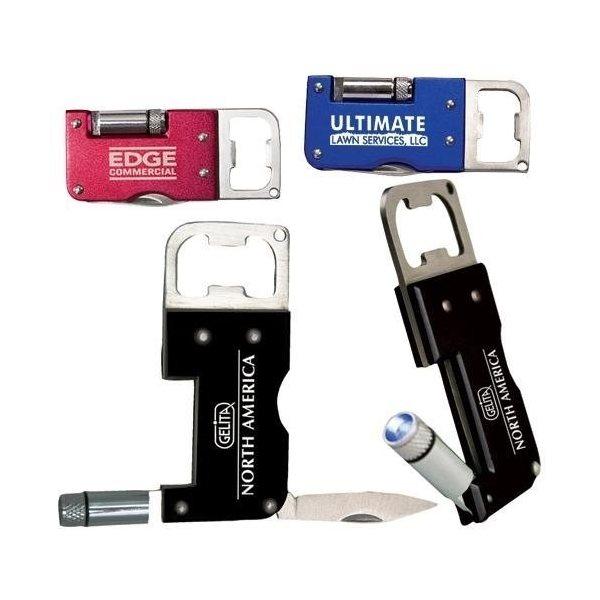 Promotional Stainless Steel Bottle Opener / Knife with LED Light