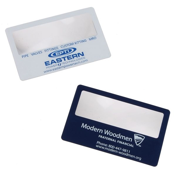 Business card magnifier promotional business cards for Promotional business cards