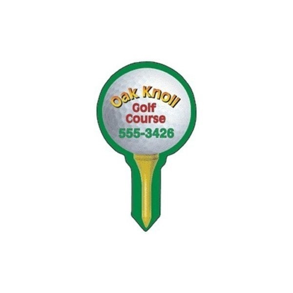 Promotional Golfball on Tee - Die Cut Magnets