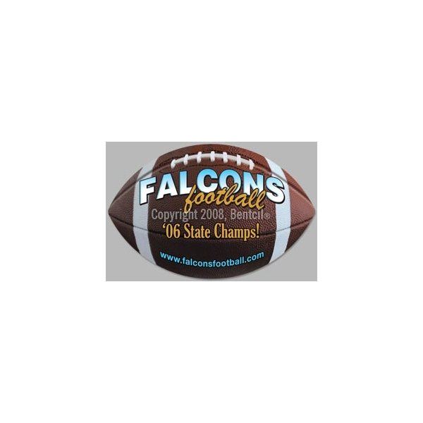 Promotional Football - Exterior - Auto Die Cut Magnets