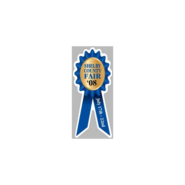 Promotional Prize Ribbon - Exterior - Auto Die Cut Magnets