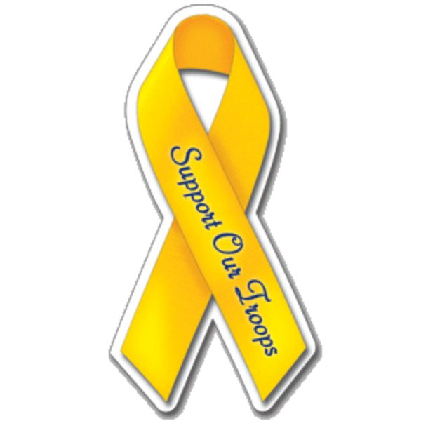 Promotional Support Our Troops Ribbon - Exterior / Auto Die Cut Magnets