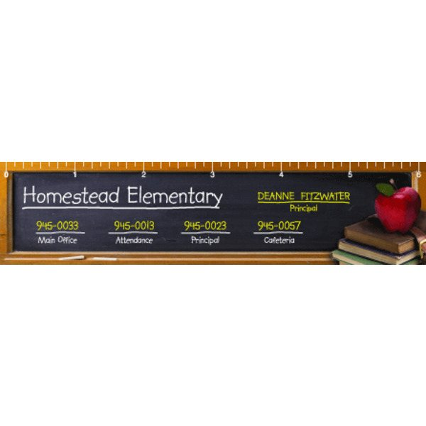 Promotional Chalkboard Ruler2 - Ruler Magnets