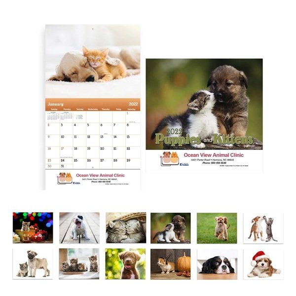 Promotional Animal Calendar 2017 - Stapled Wall Appointment Calendar