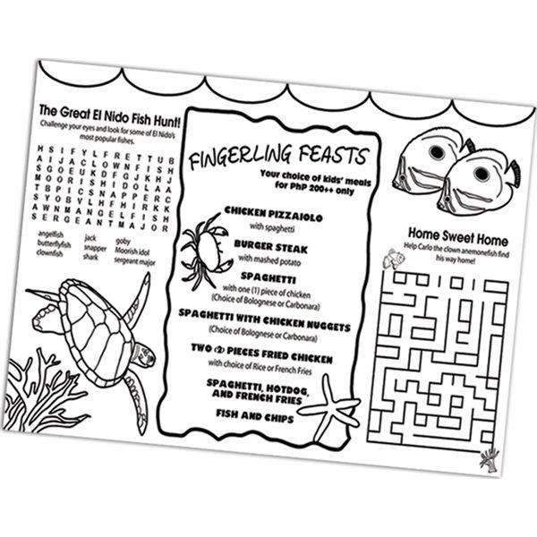 Promotional U - Color Placemat - Paper Products
