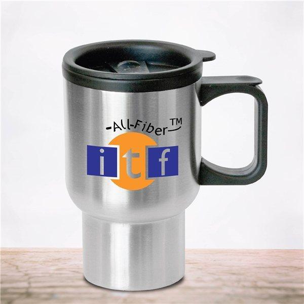 Promotional Bishop - 16 oz Stainless Steel Travel Mug