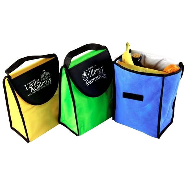 Promotional Non Woven Foldable Kool Tote Insulated Lunch Bag 7 X 9.5