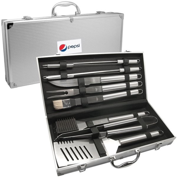 Promotional Deluxe 10 PC BBQ Tool Set