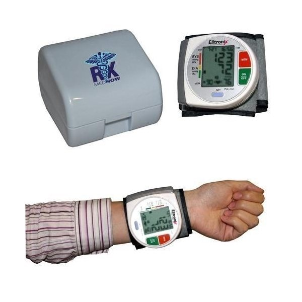 Promotional Wrist Blood Pressure Monitor - With Heart Health WHO Indicator Case