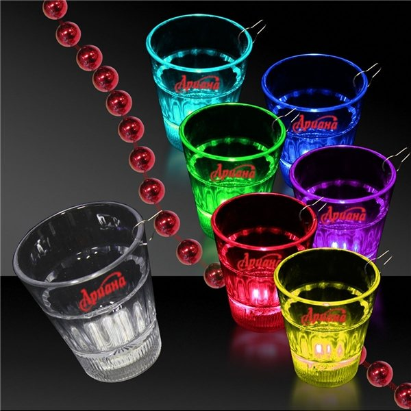 Promotional 2 oz. Light Rainbow Shot Glass Medallion