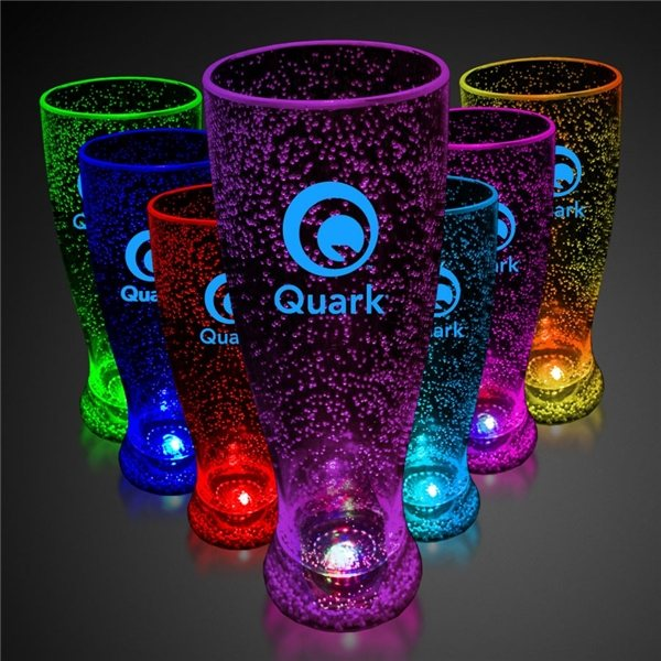 Promotional 24 oz. Light - up Bubble Pilsner