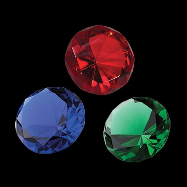 Promotional Crystal Diamond Paperweight (Color)