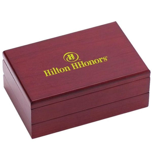 Promotional Wooden Domino Set With 2 Decks Of Playing Cards