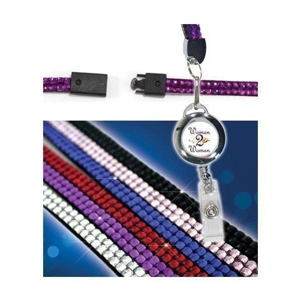 Promotional Blingyard with Retractable Badge Holder, Full Color Digital
