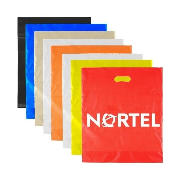 Promotional 12 x 15 Diecut Handle Bag - 1.75 mil