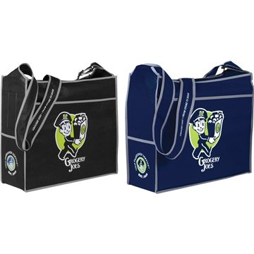 Deluxe Box Non Woven Convention Shoulder Tote
